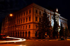 Night city. Ivano-Frankivsk city at night Ukraine Royalty Free Stock Images