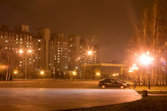 Night city Krivoy Rog Royalty Free Stock Images