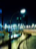 Night city lamp abstraction Stock Image