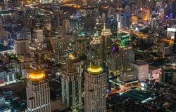 Night City LandScape of the Bangkok Thailand Stock Image
