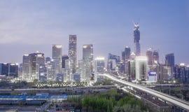 Night city landscape in Beijing, China. stock photos