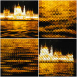 Night city landscape. Collection of abstract Royalty Free Stock Photo