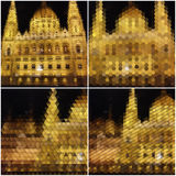 Night city landscape. Collection of abstract Stock Photography