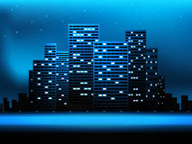 Night city landscape Stock Photos