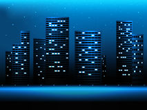 Night city landscape Royalty Free Stock Images