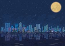 Night city landscape Royalty Free Stock Image