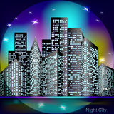 Night city light Royalty Free Stock Images