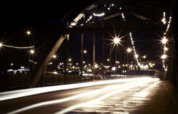 Night city lights stock photos