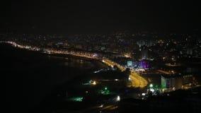 Night city stock video