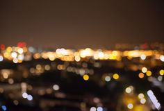 Night city lights blur, London Stock Photography