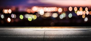 Night city lights bokeh Royalty Free Stock Photos