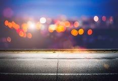 Night city lights bokeh Royalty Free Stock Image