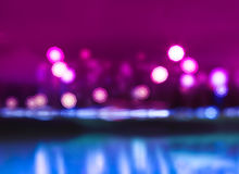 Night city lights bokeh with reflections background. Hd Royalty Free Stock Images