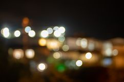 Night city lights in defocus. Abstract background stock images