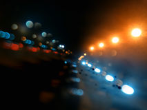 Night city lights on highway bokeh backdrop. Hd Royalty Free Stock Photography