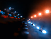 Night city lights on highway bokeh backdrop. Hd Stock Image