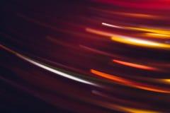 Free Night City Lights Motion Neon Red Orange Lines Royalty Free Stock Image - 155189996