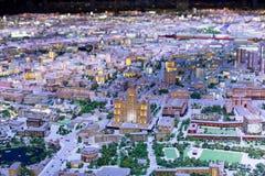 Night city model royalty free stock photos