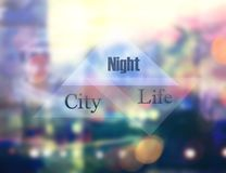 Night city modern royalty free stock photos