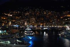Night city Monaco Royalty Free Stock Image