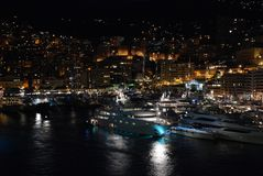 Night city Monaco Stock Images