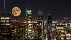 NIGHT CITY MONTREAL Royalty Free Stock Photos