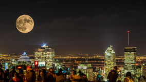 NIGHT CITY MONTREAL Royalty Free Stock Photography