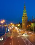 Night city, Moscow Royalty Free Stock Images