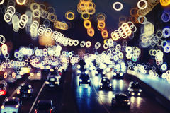 Night city with motion lights. Background night city with motion lights Stock Images