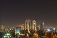 Night city,night Moscow Royalty Free Stock Image
