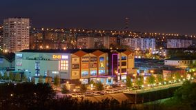 Night city Novorossiysk Krasnodarskiy region stock images