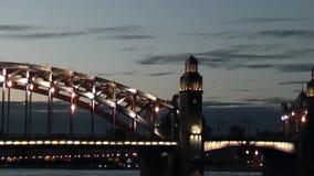 Night city. stock video