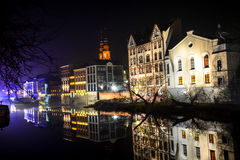 The night city Opole of Poland Stock Images