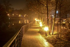 The night city Opole of Poland Royalty Free Stock Images