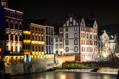 The night city Opole of Poland Royalty Free Stock Photography