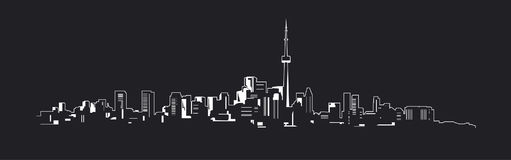 Night city. The outline of a great night city Stock Photo