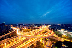 Night city overpass Royalty Free Stock Images