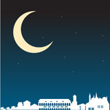 Night in the city of Padova Stock Image