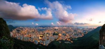 Night city panorama Stock Images