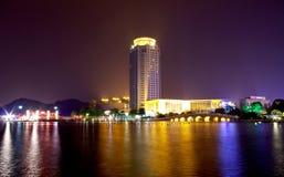 Night city park lakes Stock Photography