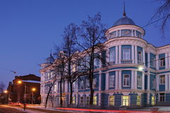 Night city of Perm. With beautiful buildings Stock Photo