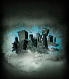 Night city poster Royalty Free Stock Photos