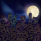 Night city poster Royalty Free Stock Photo