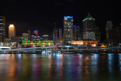Night city with reflection Stock Photography