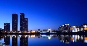 Night city Astana Royalty Free Stock Image