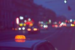 Night city road Stock Image