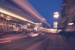 Night city road Stock Photography