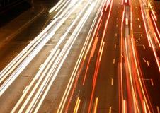 Night city road lights Royalty Free Stock Image