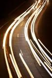 Night city road lights Stock Photos