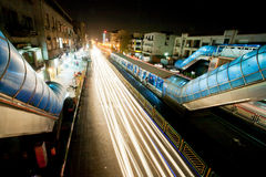 Night city road Stock Photos